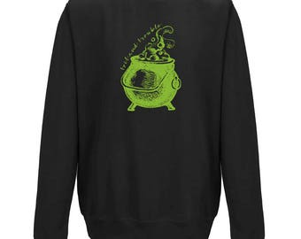 TOIL AND TROUBLE Cauldron Halloween Jumper - Unisex Fit