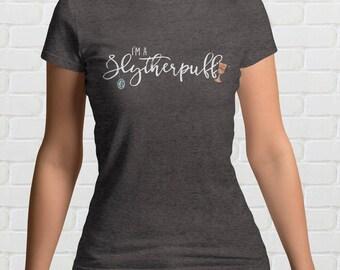 I'm A SLYTHERPUFF Ladies T-Shirt | Mixed Hogwarts Houses | Slytherin and Hufflepuff