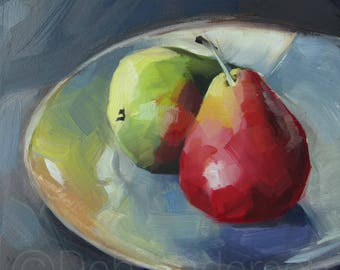 Small Oil Painting of Two Pears