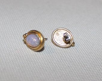 Opal Goldtone Earrings
