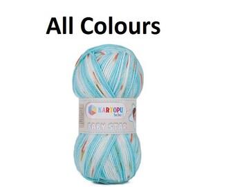 Baby yarn Kartopu baby star 100 gr baby blanket yarn, acrylic yarn, soft yarn, baby knitting blanket yarn, colourful yarn for kids