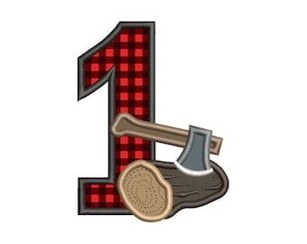 Lumberjack One Applique Embroidery Design  - Instant Download