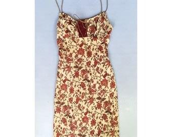 1960s Inspired Paisley Hippie Mini Summer Dress Size S
