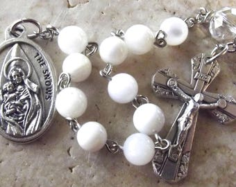 Our Lady of the Snows One-Decade White Rosary