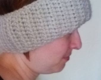 Off-white hand crochet ear warmer