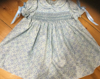 Smocked baby dress