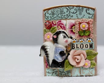 BLOOM, mosaic art, Thumper the skunk, Bambi