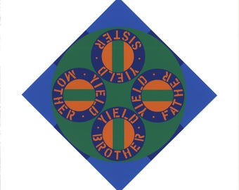 Robert Indiana-Yield Brother #2-1997 Serigraph