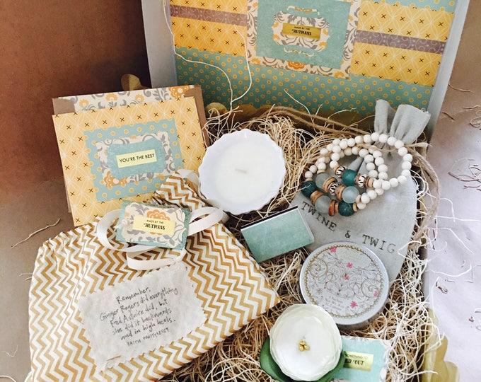 Featured listing image: Grateful {Bride} Box {T&T Aqua or Gray Stacks bracelet}