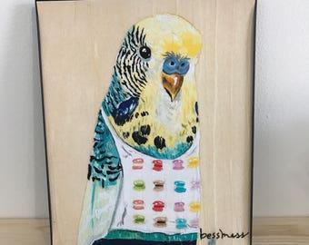 Bea Budgie art print | budgie print | budgie | parakeet print | parakeet | animal print | sheltered millannial