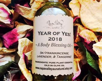 Year of Yes! (a body blessing oil) in 2oz glass bottle