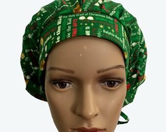 Bouffant Surgical Scrub Hat - Christmas Theme Scrub Hat - Christmas Gifts bouffant scrub hat - Ponytail Scrub hat - Custom Scrub Hat