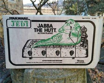 Jabba the Hutt playset 1983 unused Sears mailer box Kenner star wars