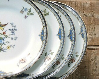 Vintage Noritake Modesta Bread and Butter Plates Set of 4 Dessert Plates