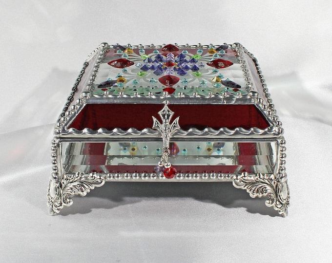 Jewel Encrusted Treasure 5x5 SILVER