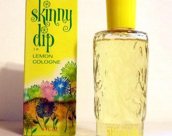 Vintage 1960s Skinny Dip Lemon by Pfizer 4 oz Cologne Splash ORIGINAL FORMULA PERFUME