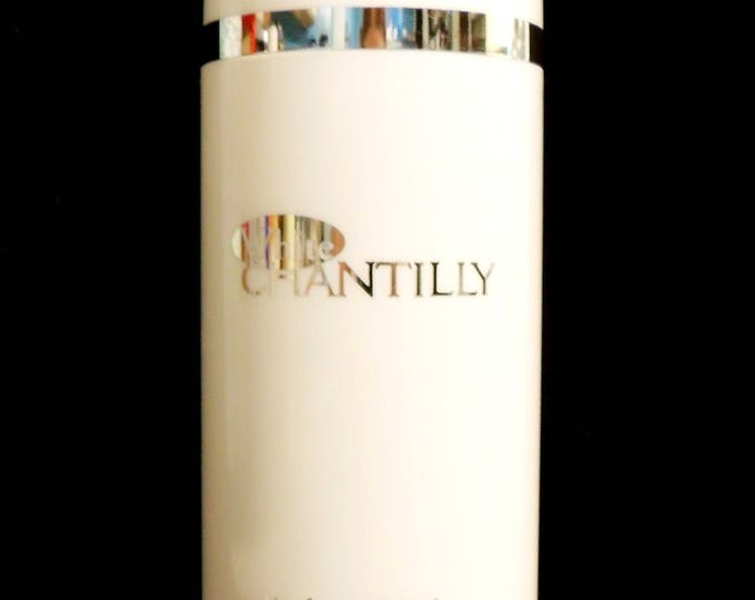 Vintage 1990s White Chantilly by Dana 4 oz Perfumed Talcum Powder Body Talc Shaker