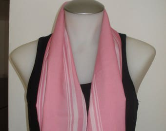 Vintage Pink Karin Long Scarf - Soft Summer Scarves - Womens Accessories 1970s