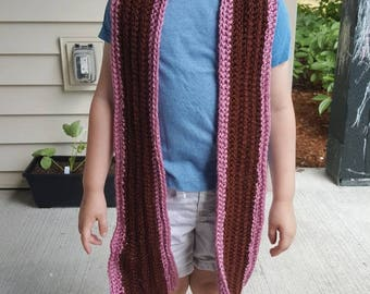 Dark pink and maroon scarf