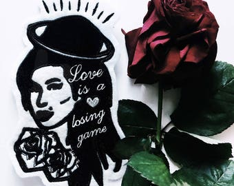 Amy Winehouse inspired illustration - Iron on patch