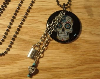 Skull Day of the Dead Necklace
