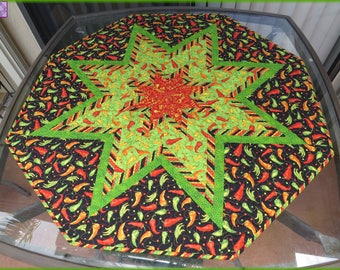 Quilted Table Topper Caliente Peppers 745