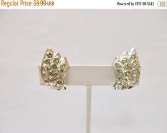 ON SALE Vintage Rhinestone Earrings Item K # 2307