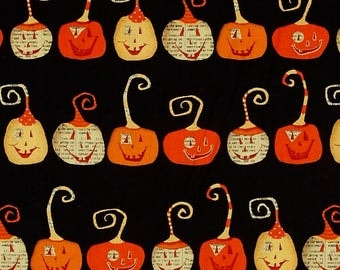 Planner Cover - in DT-K Witchy Pumpkins fabric - F2