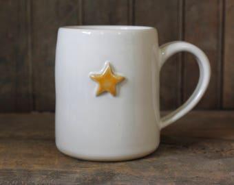 Grown up Star Mug // Large Pottery Mug // Ceramic Coffee Mug // Tea Lovers