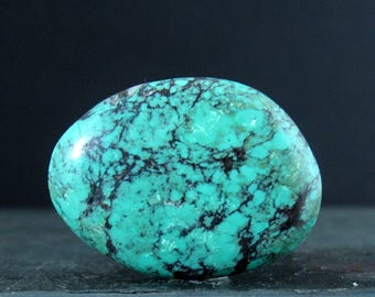 Turquoise cabochon, Natural stone, Jewelry making supplies  B6940