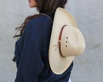 Large brim straw hat- Sun Hat-Boater Hat-Womens Straw Hat-Beach Hat-Mens Straw Hat-Western Hat- Cowboy Hat
