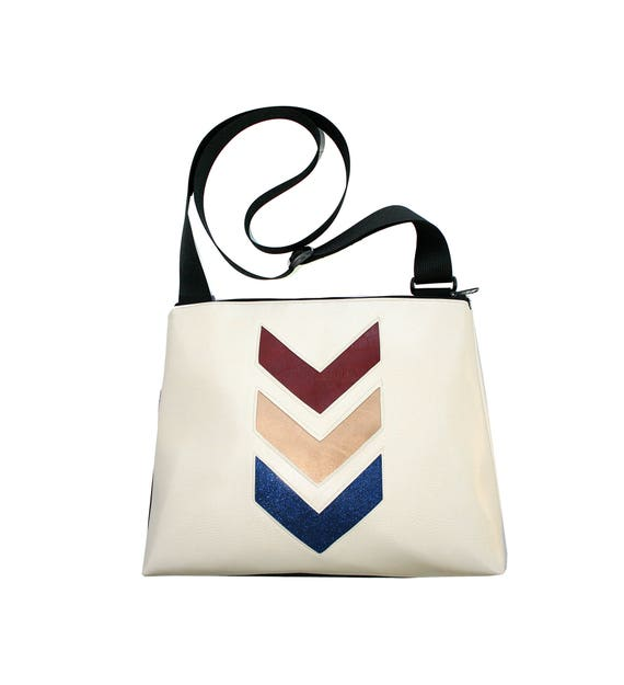 Wonder Woman, chevron, sparkle vinyl, chevron, vegan, vegan leather, large, cross body bag