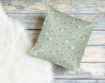 Vintage Floral Print Pillow for Dog Moms