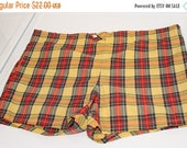 50% Off Spring Sale Vintage Jantzen Men's Swim Suit Swim Trunks Red Yellow Blue Green Plaid  SZ 36W AS Is