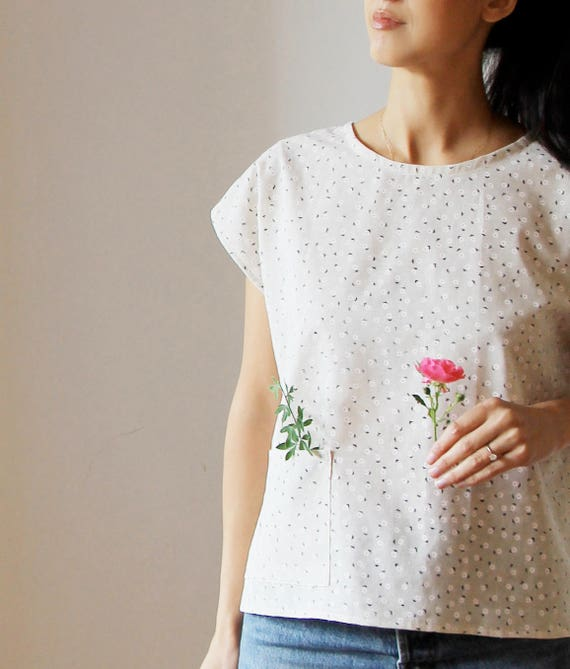 SALE! Tiny Daisy Top in Linen Cotton