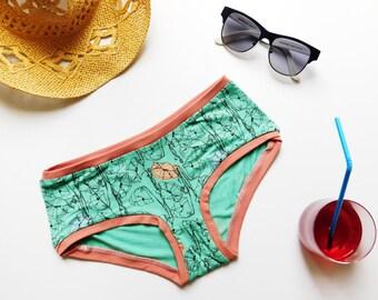 Organic Underwear, Poppy Panties, Organic Panties, Knickers, Poppy Undies, Womens Underwear, Organic Boyshorts, Lingerie, Gift For Her