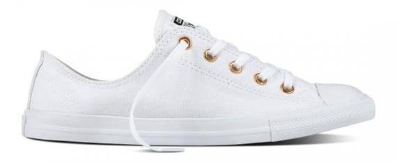 White Gold Wedding Converse Canvas Dainty Low Top Chuck Taylor Custom Kick w/ Swarovski Crystal Rhinestone Jewel Bling All Star Sneaker Shoe