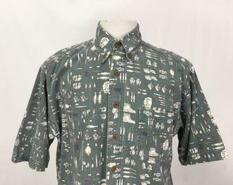 Camping Themed Short Sleeved Shirt