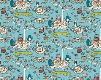 Picnic Organic Cotton Woven Poplin - Picnic Whimsy (5208.52.00.90)