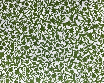 FABRIC-Olive Botanical Fabric by the Yard-Quilt Fabric-Apparel Fabric-Home Decor Fabric-Fat Quarter-Craft Fabric-Fat Quarters