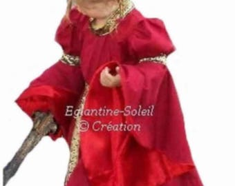 "Medieval princess dress ""HAINEAU"" custom"