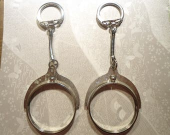 2 Silverplated Eisenhower Morgan Liberty Dollar Spinning Key Chains