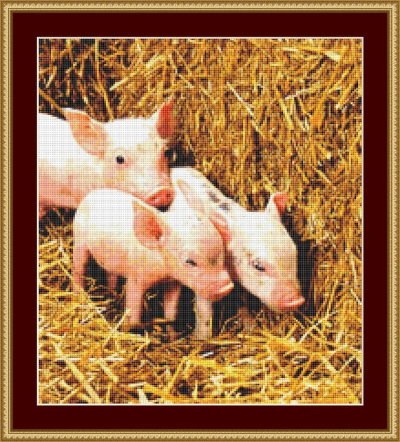 Piglets Cross Stitch Pattern /Digital PDF Files /Instant downloadable
