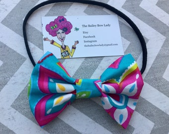 Floral Fabric Hair Bow