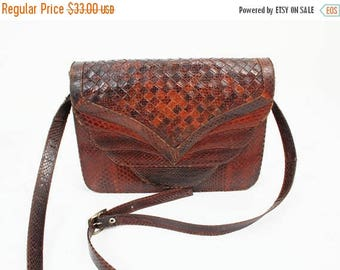 SALE Snakeskin Purse / Vintage Purse / Evening Bag / Elegant Bag / Snake Skin Bag / Snake Skin Purse / Leather Shoulderbag / 70s Purse