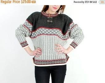 SALE Vintage Wool Sweater / Norwegian Sweater / Wool Sweater / Man Sweater / Scandinavian Sweater / Man Pullover / Sweater Size 42 / 44