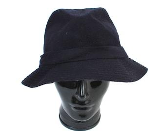 90s Burberrys Hat / Burberrys Fedora / Vintage Wool Hat / England Hat / Black Fedora / Large Fedora / Vintage Hat / Vintage Fedora / 90s Hat
