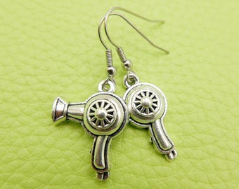 Hair dryer Earrings stainless steel