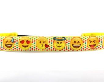 Emoji Headband, NoSlip Headband, Emoji Birthday, Gift for Runners, Emoji Party, Running Headband, Emoji Movie, Fitness Accessory