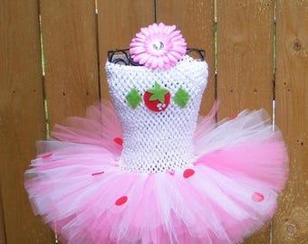 25% off SALE Strawberry tutu dress - newborn thru adult - Halloween - Birthday costume - Strawberry Shortcake inspired tutu